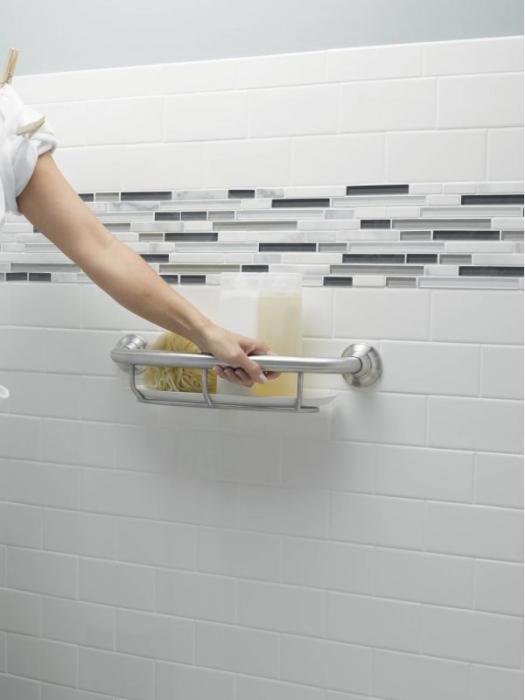 Photo of Full size grab handle used #Badroomfixtures #bathroom #fixtures # Moen # Bar #ba …
