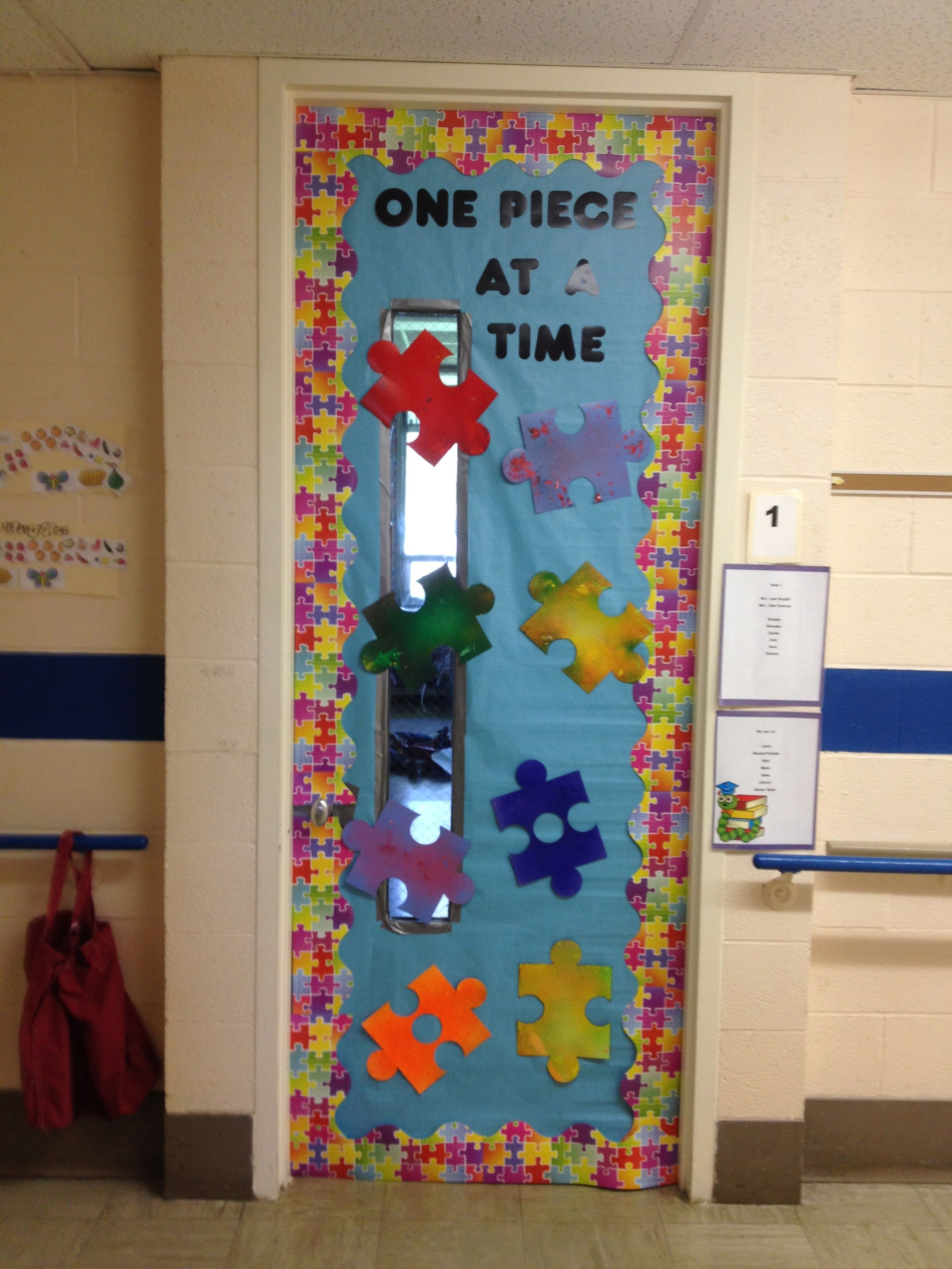 Special Education Classroom Decoration : My classroom door for autism awareness month i put
