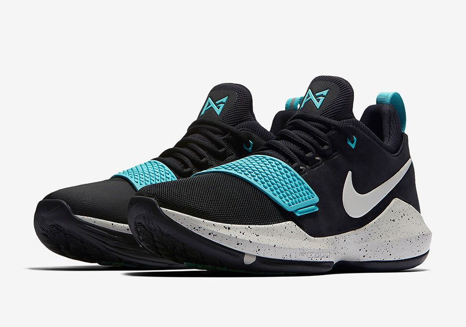 654a24b71f8a Nike PG 1 Paul George Basketball Sneaker Blue Black Mens Men s New 13