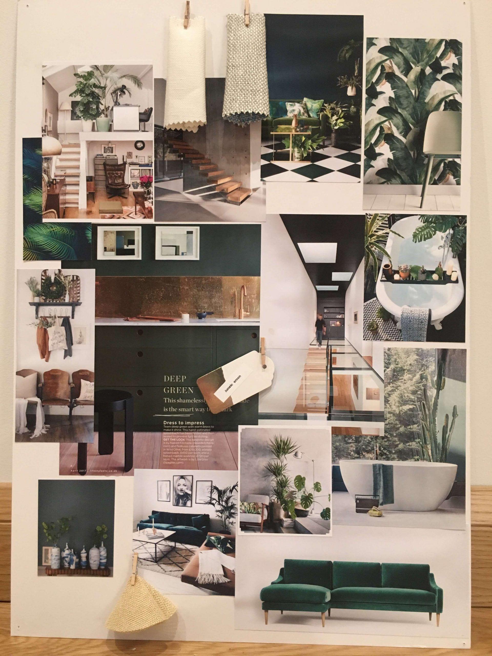 Brainstorming Interior Design Prasentationstafeln Zu Einem Engen