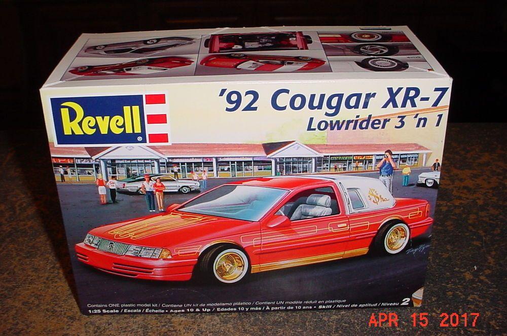 1992 Mercury Cougar Xr7 Lowrider Revell 1 25th 85 2182