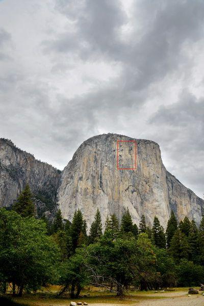 El Capitan Cliff is a vertical rock formation in Yosemite