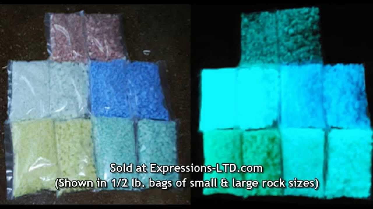 Glow In The Dark Rocks Glass Aggregate In Concrete