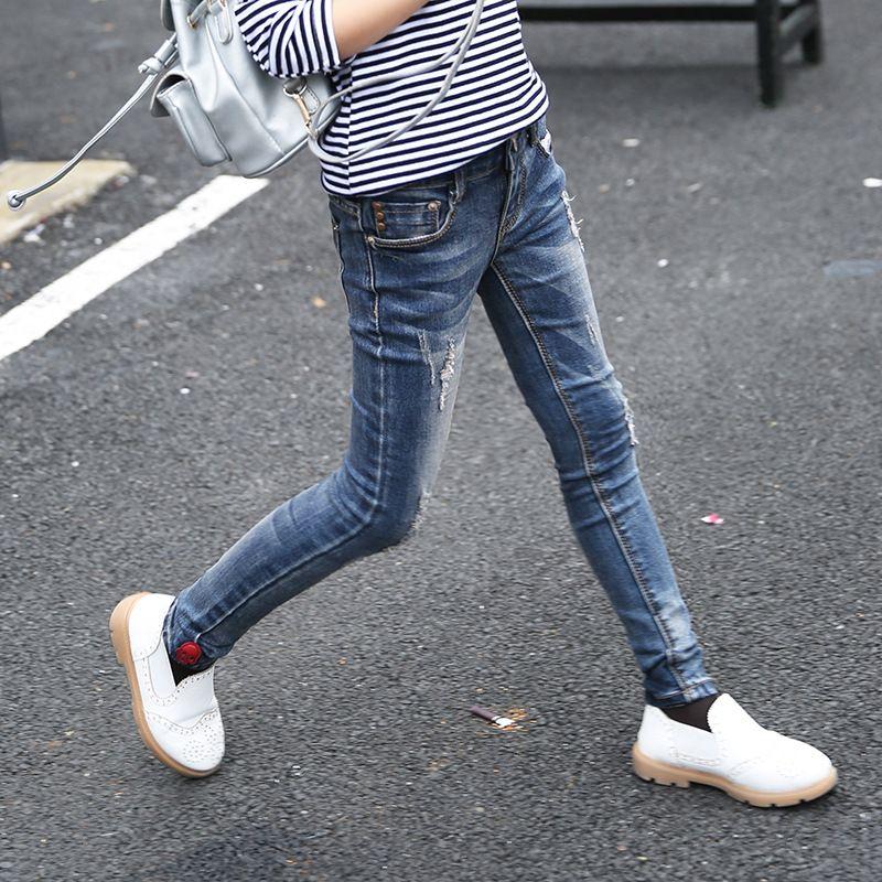 Ninos Jeans Skinny Jeans Baby Girl Otono Invierno Pantalon Largo Button Fly Moda Denim Pantalones Vaqueros De Los Ninos Para Las Ninas Skinny Jeans Fashion