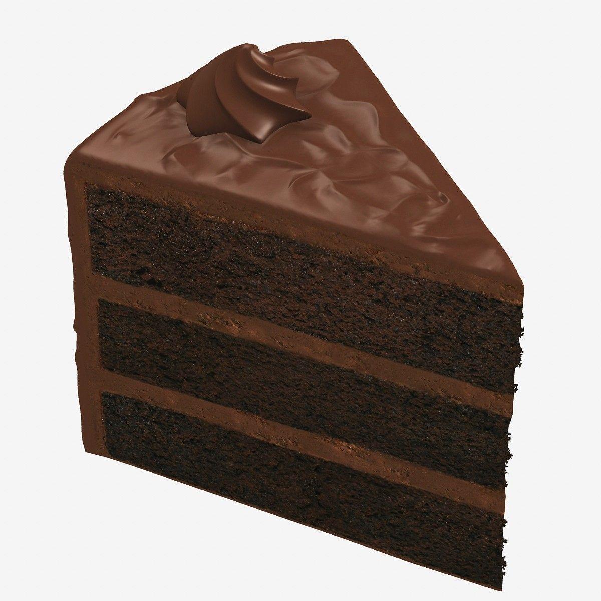 Chocolate Cake Slice Clip Art