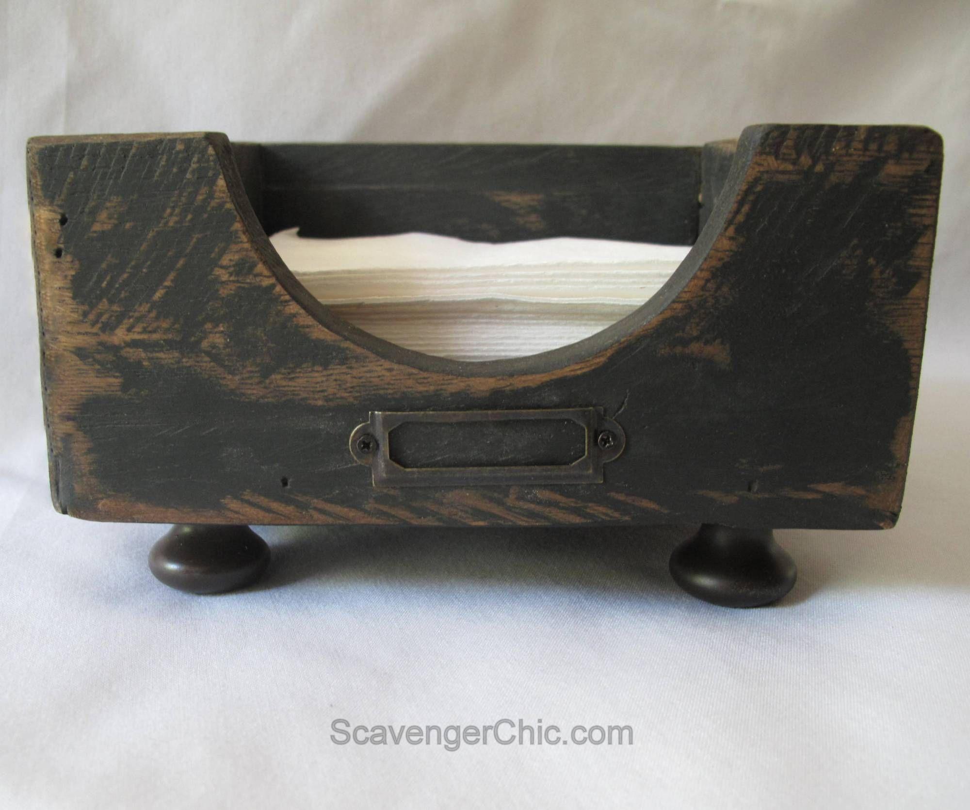 Diy pallet wood scrap wood napkin holder napkin holder