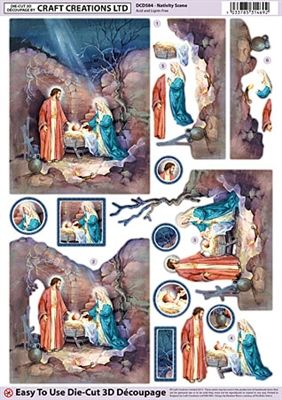 Craft Creations Die Cut Decoupage Nativity Scene