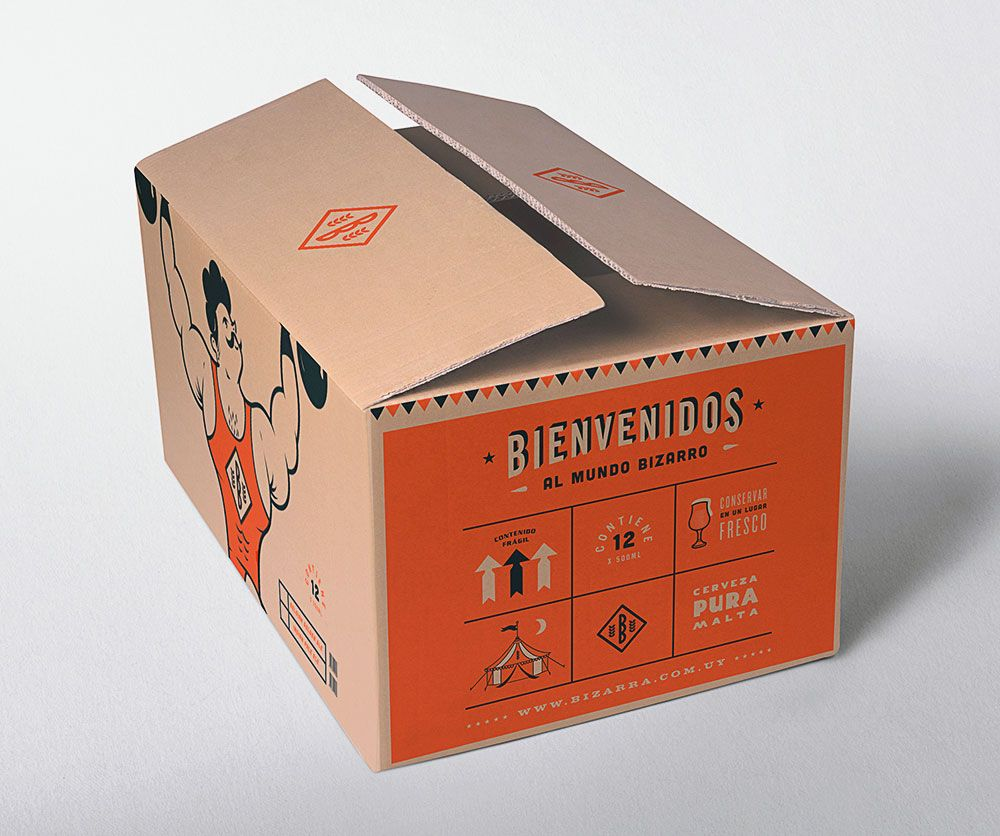Birra Bizarra Box Packaging Design Carton Design Beer Box