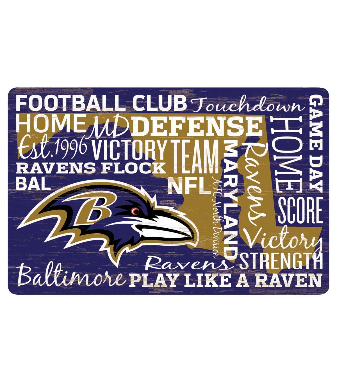 Baltimore Ravens Wordage Sign JOANN in 2020 Baltimore