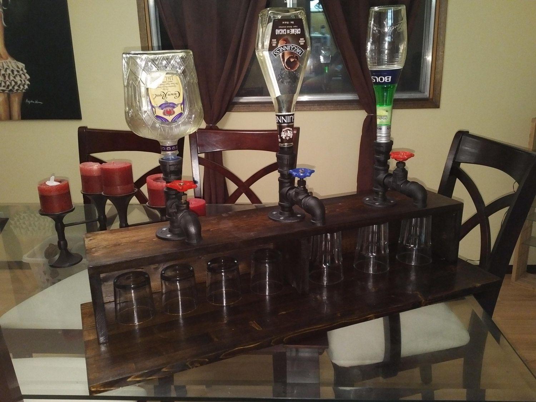 Homemade liquor dispenser by embrewcreations on etsy for Diy liquor bar