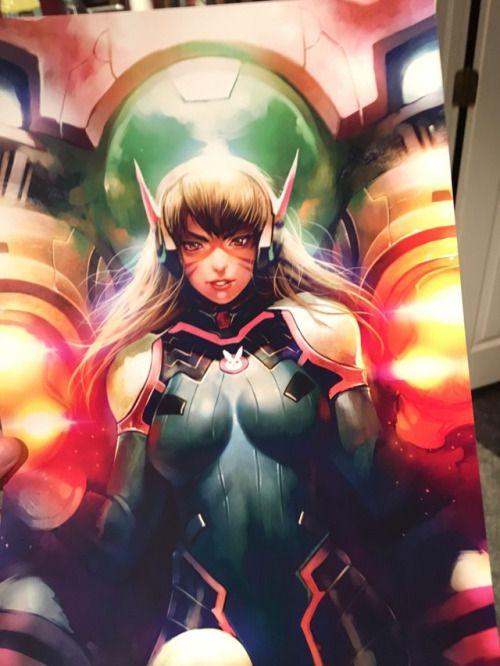 D. Va, Overwatch artwork by Emuku. USE CODE PIN5 TO
