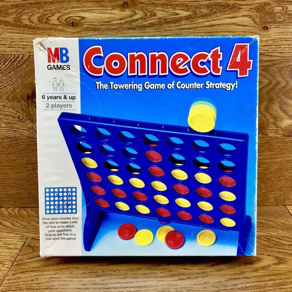 Mb Games Connect 4 Strategy Game Family Childrens Kids Vintage 1996 Holidays Family Games Game Sales Games