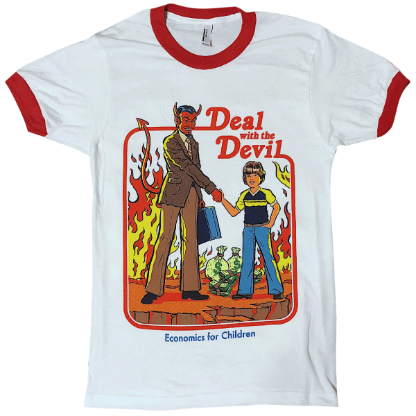 6047bd3a Deal With the Devil' Ringer Shirt in 2019 | Awesome tees & hoodies ...