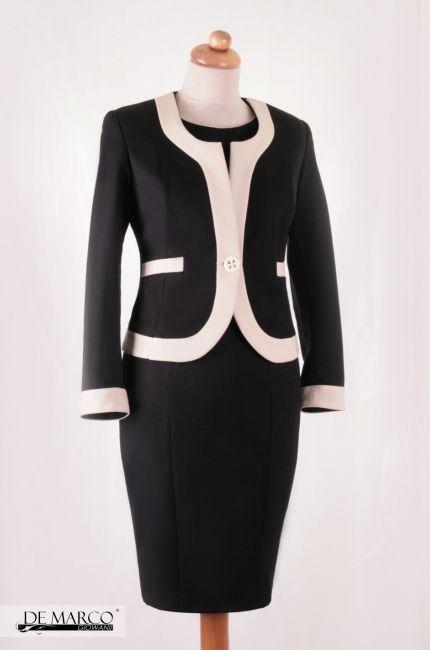 f0015a3850 Biznesowy Klasyczny kostium szyty na miarę Chanel  szycie  wesele  sukienka   businesswoman