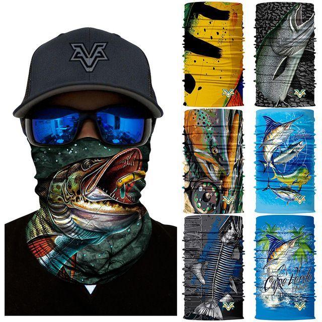 3D seamless Fishing Scarf Multifunctional bandanas