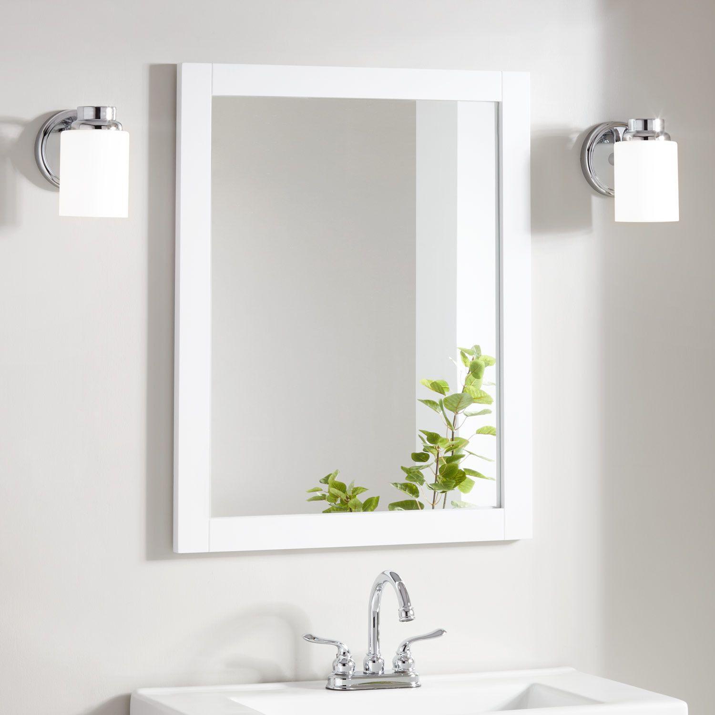 Lander Vanity Mirror White White Bathroom Mirror White Vanity Mirror Bathroom Mirror