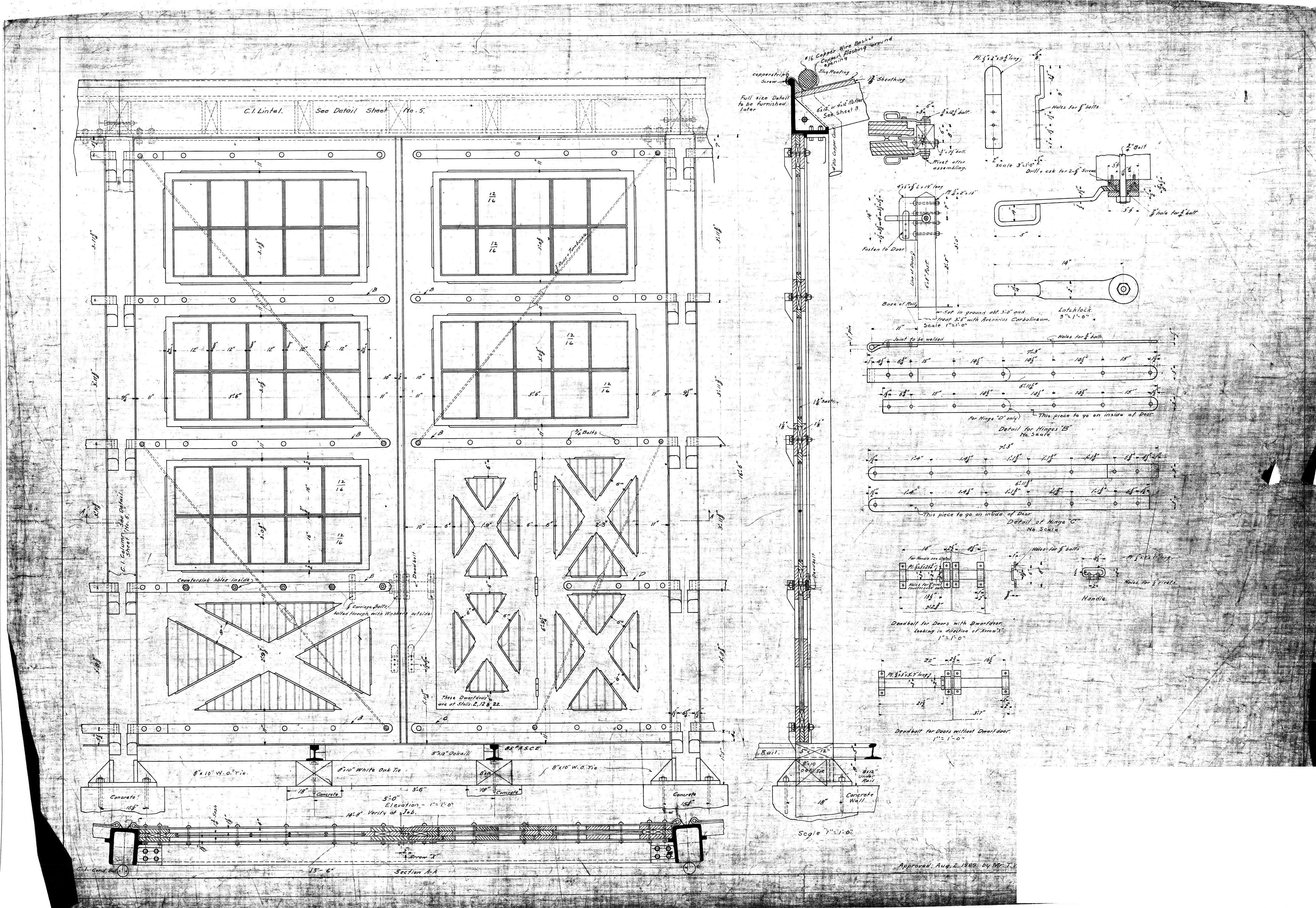 Old Blueprint Of A Railroad Yard S Doors Circa 1909 Blueprints Olds Sheet