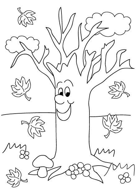 Coloriage automne imprimer coloriage arbre et feuilles pinterest - Arbre automne dessin ...