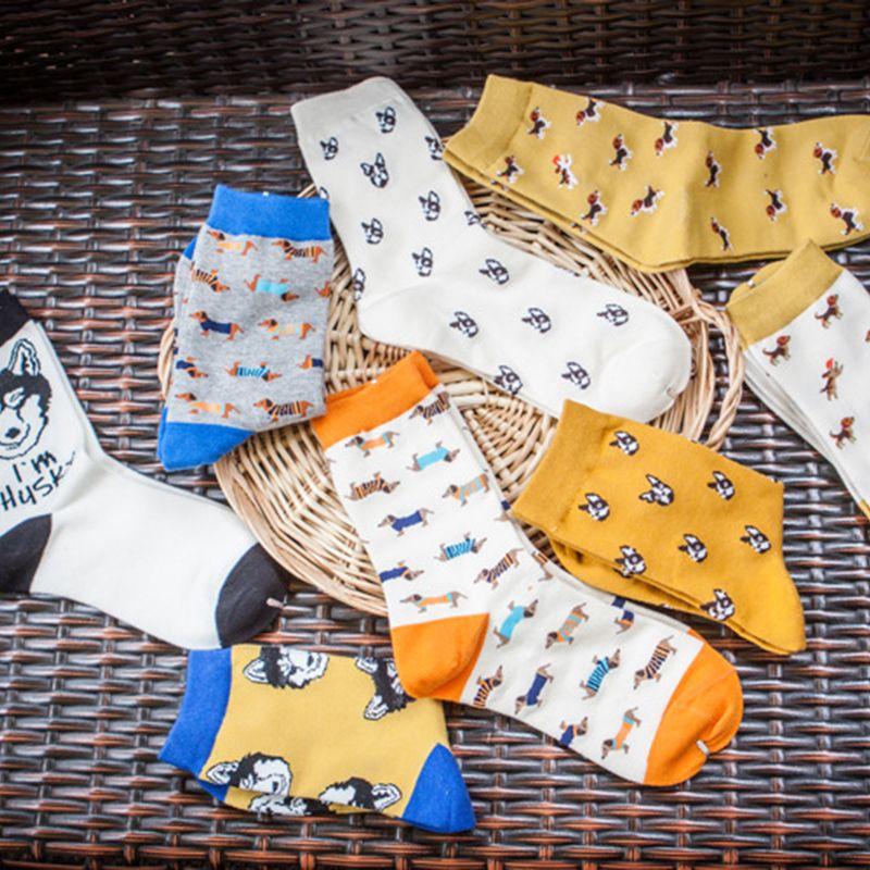 Mode qualität Neue kreative Männer Frauen Zoo Baumwolle Socken Tiere Schafe Fuchs Hund Weibliche cartoon neutral rohr Schöne socken großhandel