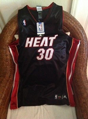 ebcc0fcf22a ... Adidas Authentic Miami Heat Michael Beasley 30 NBA black Jersey size 52  Mens ...