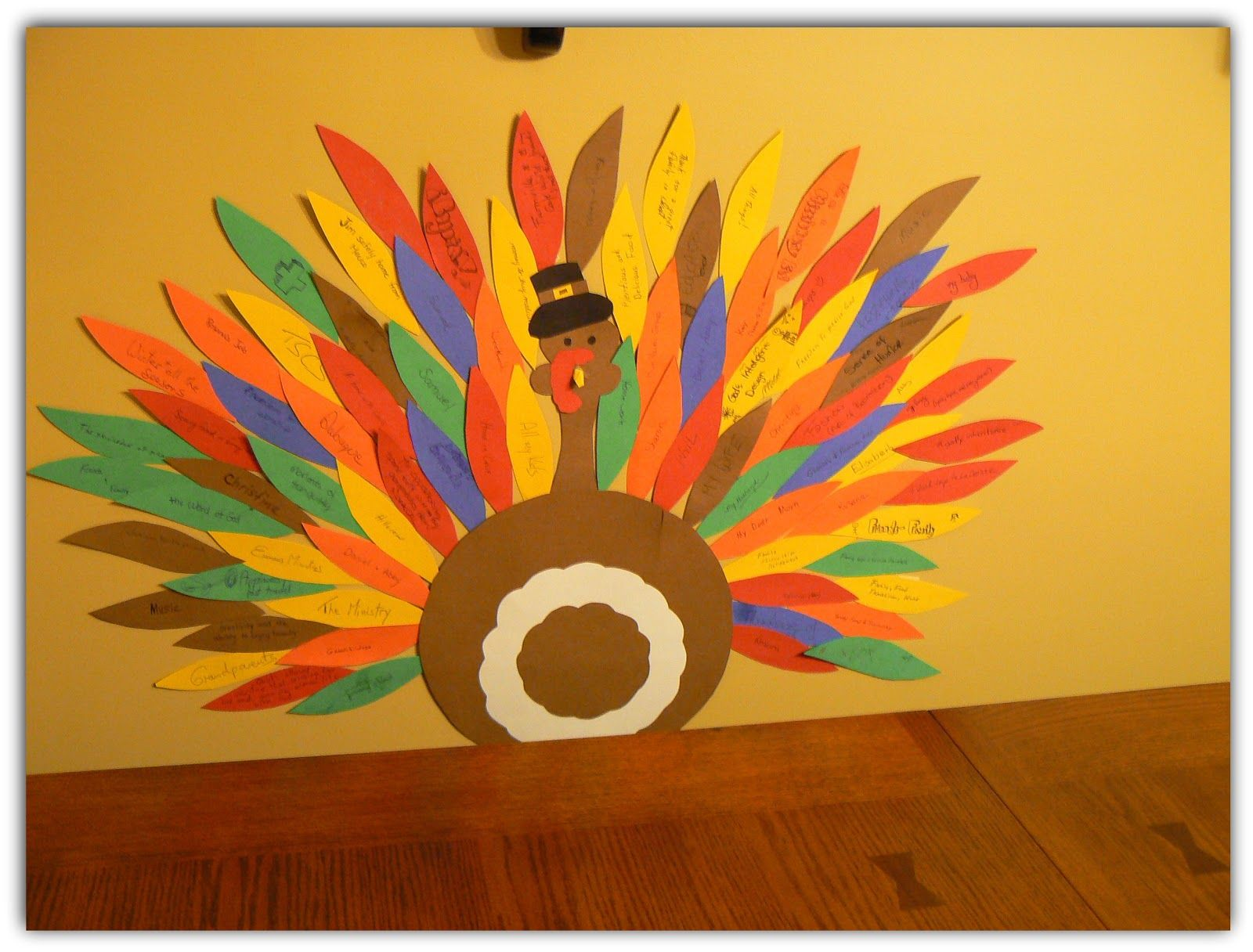 Great Thanksgiving Craft Idea Kids Add Feathers To The