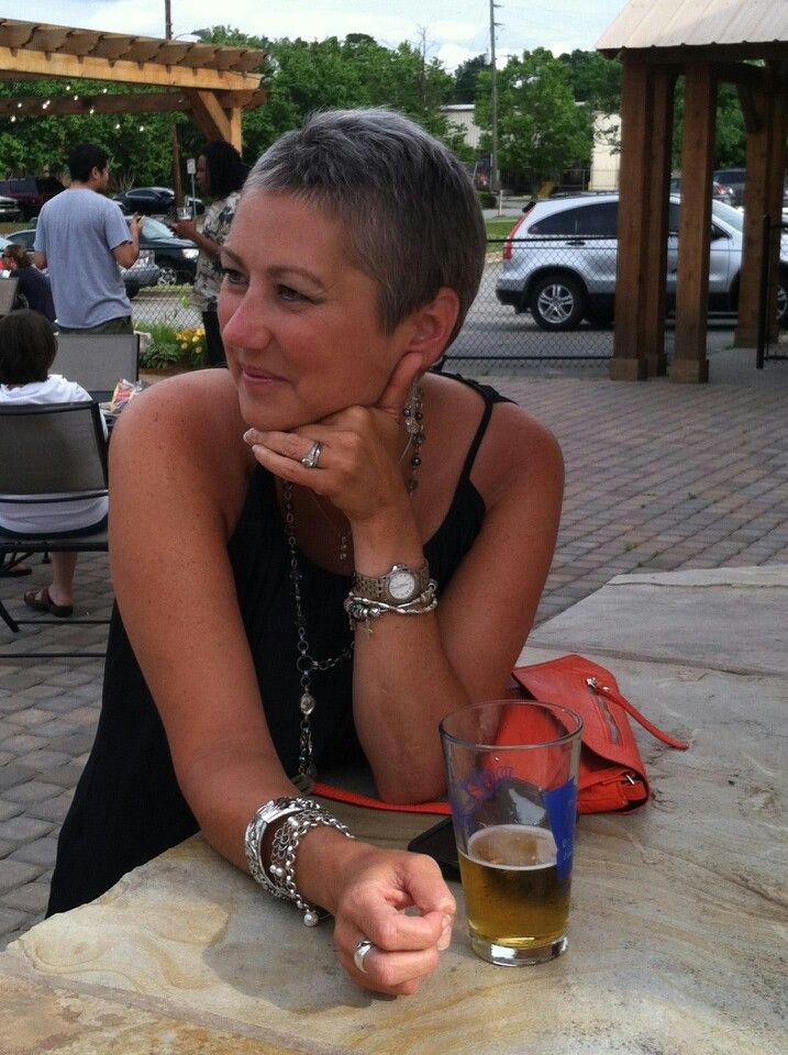 Short hair 4 months after chemo Bald Beauty I kicked cancer s ass