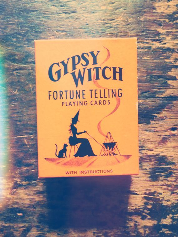 gypsy witch fortune telling playing cards!