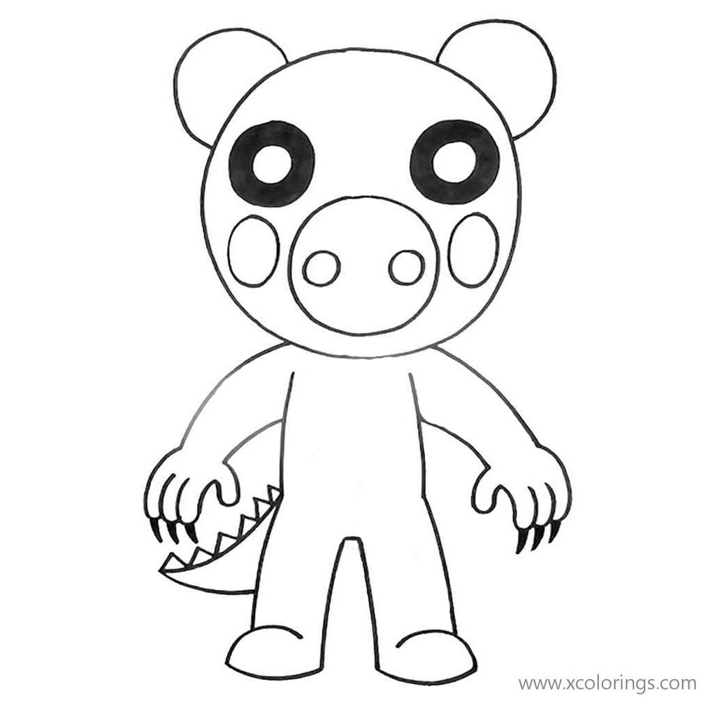 Piggy Roblox Coloring Pages Dinosaur Avengers Coloring Pages Cartoon Coloring Pages Coloring Pages