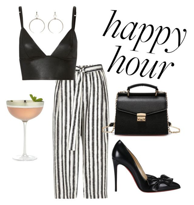 happy hour by chiara30stm on Polyvore featuring polyvore fashion style T By Alexander Wang River Island Christian Louboutin Luv Aj Crate and Barrel clothing