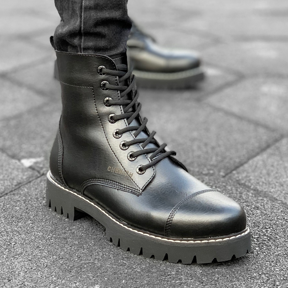 Military Vintage Biker Boots Shoes 41