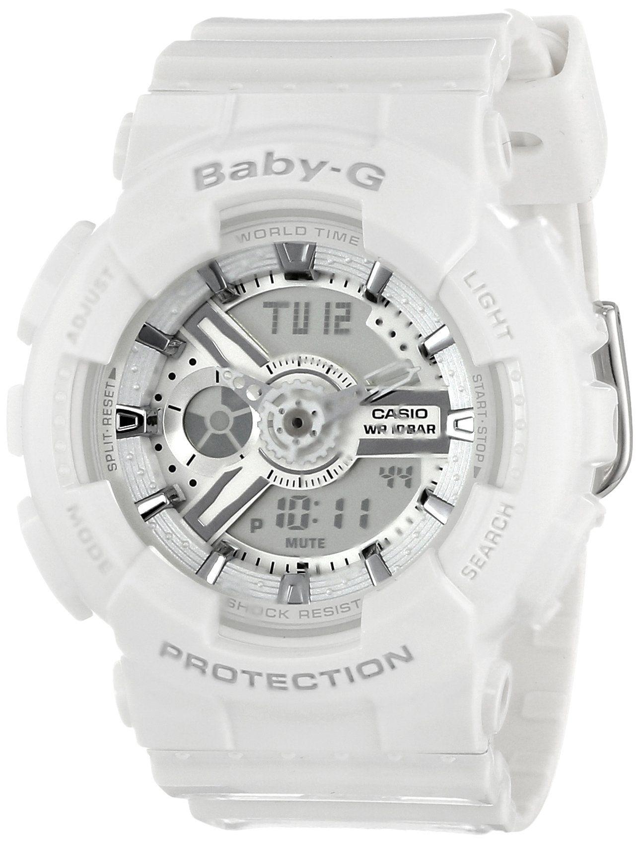 Casio Women S Ba 110 7a3cr Baby G Analog Display Quartz White