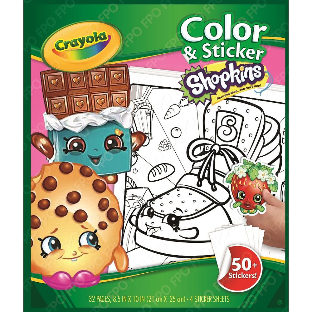 Crayola Shopkins Color N Sticker Book Only Available At