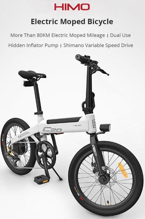 100 Original Xiaomi Himo C20 Electric Bicycle 250w Motor Ebike