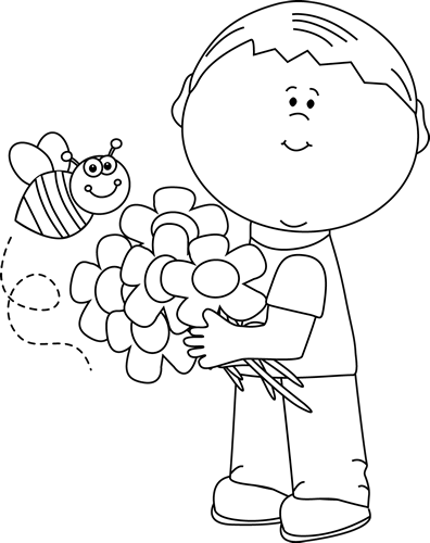 Black And White Spring Boy Clip Art Black And White Spring Boy Image Spring Coloring Pages Coloring Pages For Boys Santa Coloring Pages