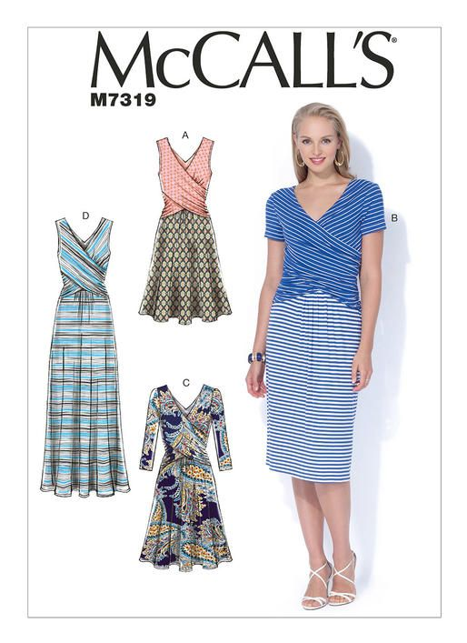 M7319 Designed For Medium Weight Moderate Stretch Knits Fabrics