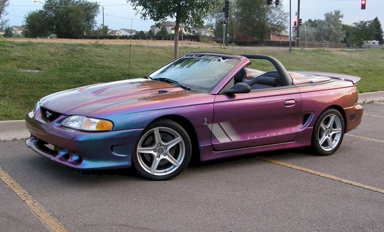 extreme rainbow purple 1997 saleen s281 cobra mustang convertible ford mustang pinterest. Black Bedroom Furniture Sets. Home Design Ideas