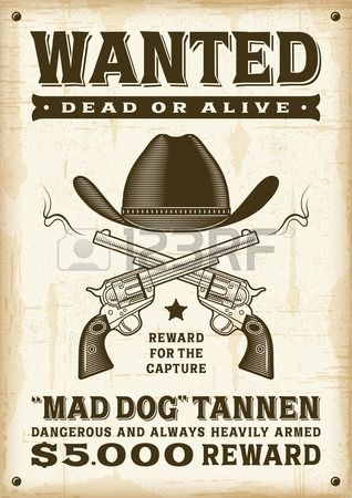 Vintage western wanted poster Stock Photo CRD Pinterest - create a wanted poster free