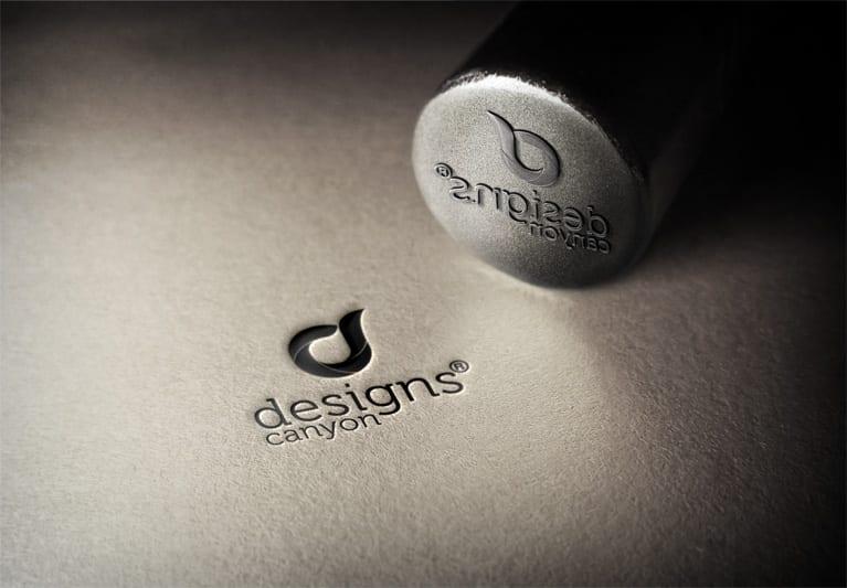 Free Psd Steel Stamp Logo Mockup Template Designscanyon Logo Mockup Free Logo Mockup Logo Mockups Psd