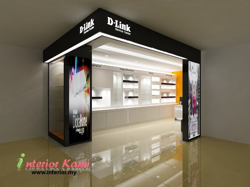 Computer Shop Display Cabinet Retail Digital