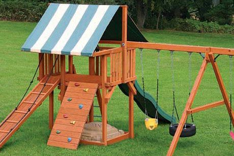 Stain Your Playset Regularly To Help Prevent Severe