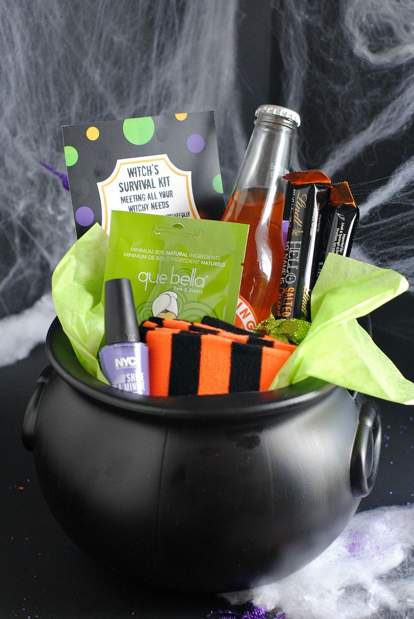 Gifts: A Fun Witch's Survival Kit Tweet Pin It So excited for Halloween! It's finally almost October and we can't wait to celebrate this holiday! Today we have a fun Halloween gift idea for you. Great for a friend who loves a laugh or just as a fun surprise for anyone, it's a Witch's Survival Kit and perfect to give sometime between...Read More