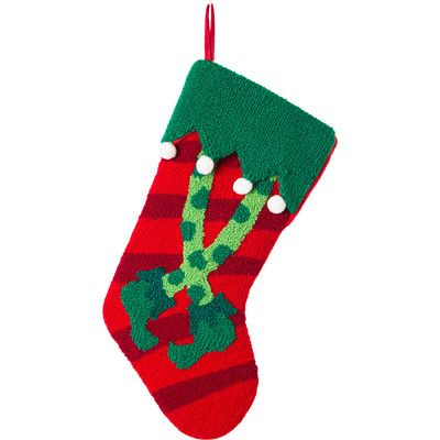 You'll love the Handmade Hooked Elf Legs Christmas Stocking at Wayfair - Great Deals on all Décor  products with Free Shipping on most stuff, even the big stuff.