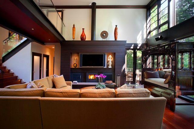 Asian Themed Living Room Black And White Furniture Set Dream Home Pinterest