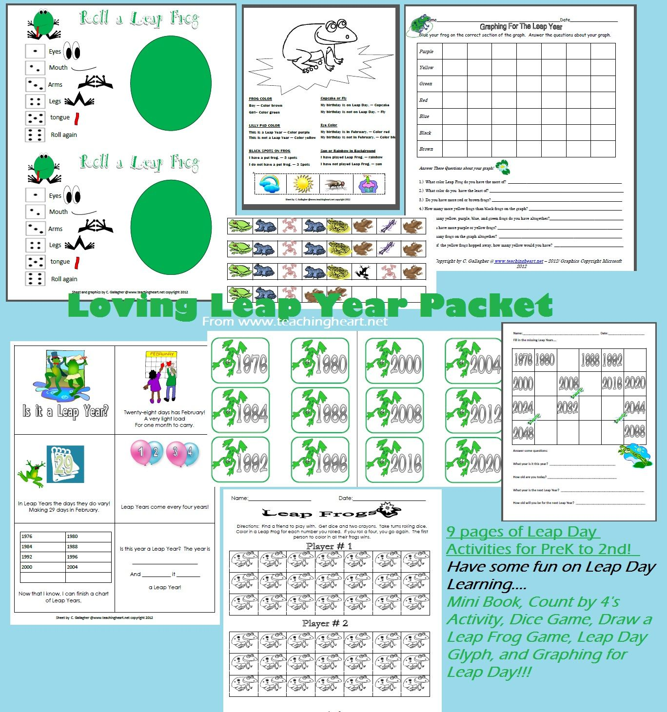 Leap Day Packet From Teaching Heart