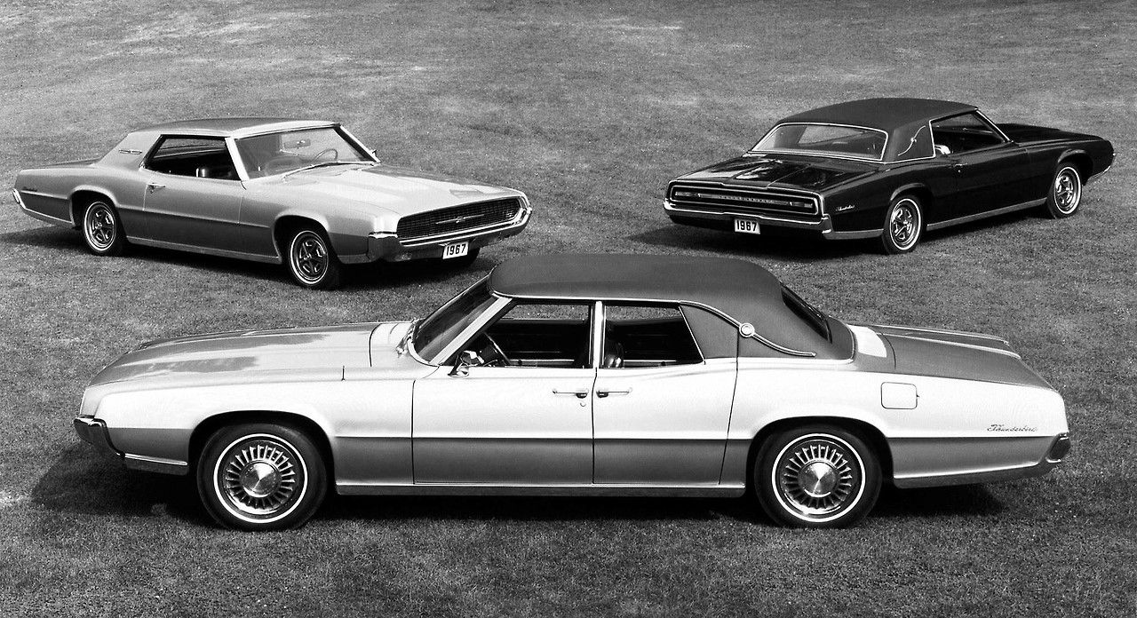 1967 thunderbird press release photo full line coupe Ford motor company press release