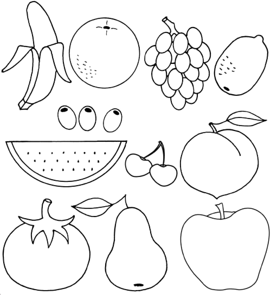 Printable Fruit Coloring Pages Online 55459 Vegetable Coloring Pages Fruit Coloring Pages Fruits Drawing