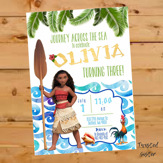 moana birthday party invitation moana invitation moana invite