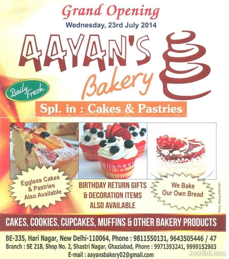 Aayans Bakery Menu & Price List, Delhi | BAKERY | Bakery