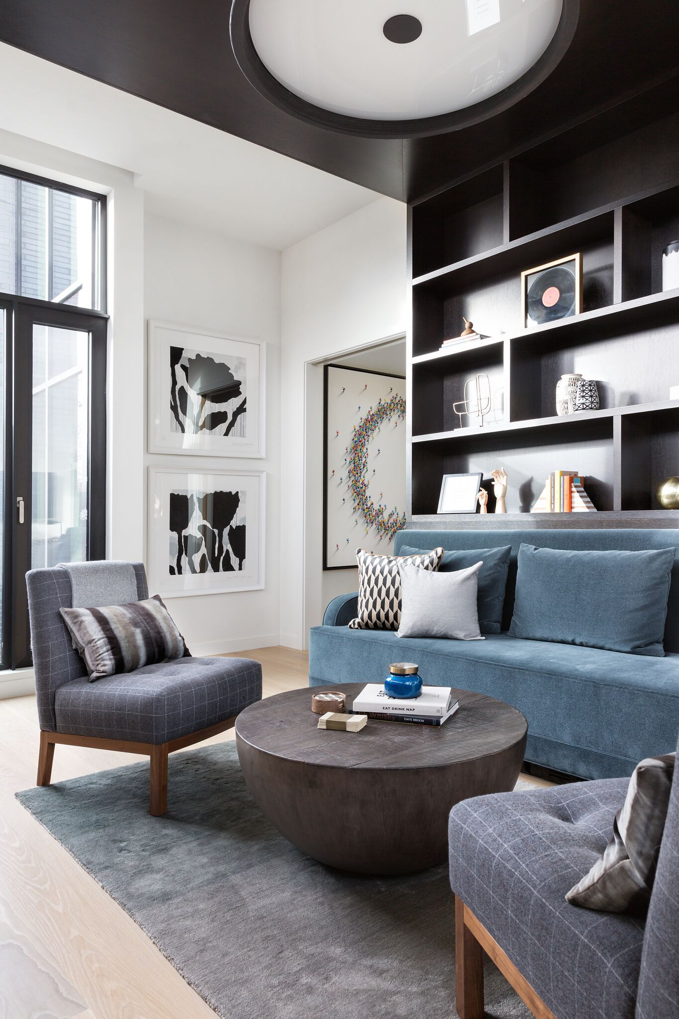 Home Office And Lounge, Elbow Park Modern, Nyla Free Designs,