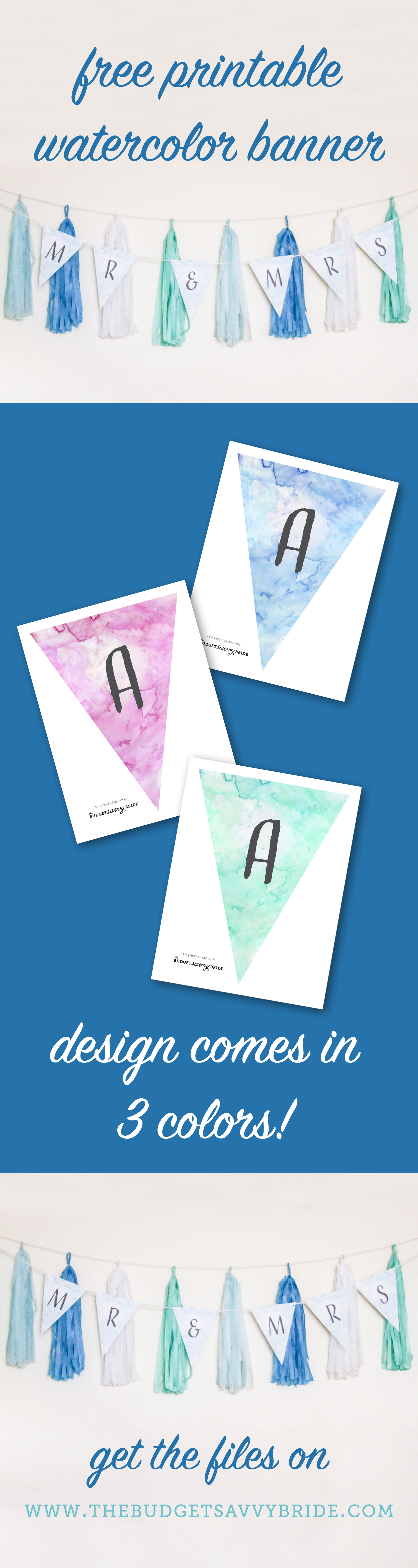free printable funny0th birthday invitations%0A FREE Printable Watercolor Alphabet Banner  Adorable    Free printable   Banners and Watercolor